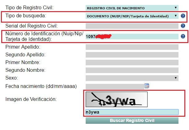 Paso 2 registro civil de nacimiento